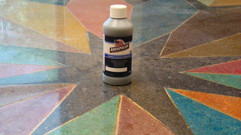 Tạo màu, trang trí sàn bê tông