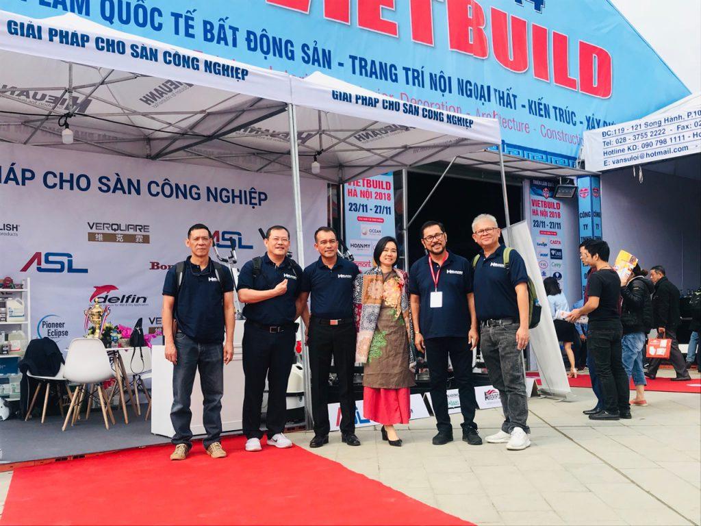 Hiếu Anh tham gia Triển lãm Quốc Tế VIETBUILD Hà Nội 2018