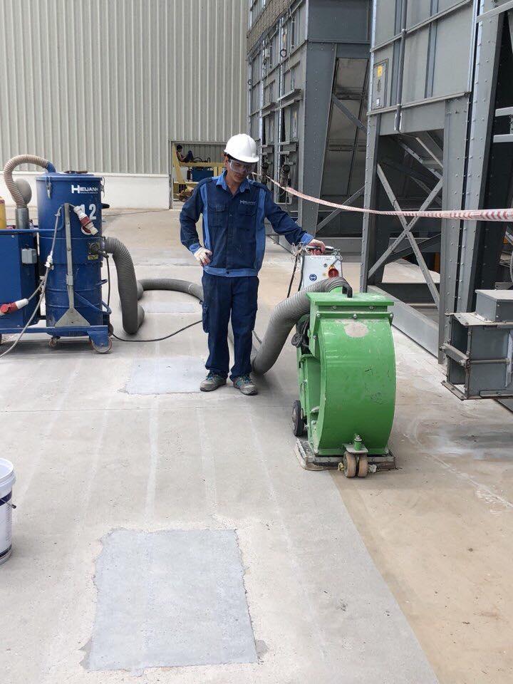 Bắn bi tạo nhám công trình Nhà máy Truemilk Nghệ An