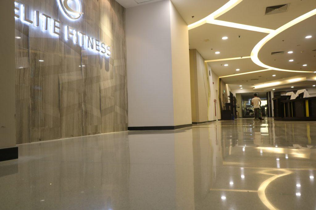Thi công sàn Terrazzo tại Elite Fitness IPH – Hà Nội