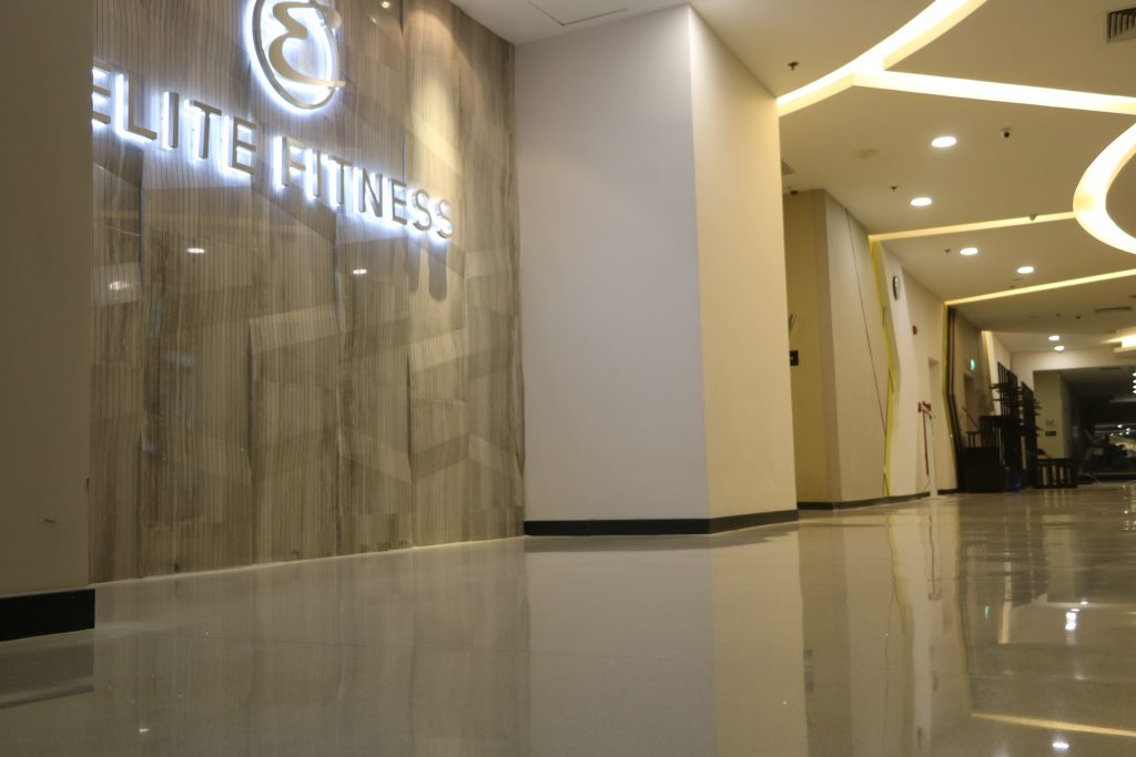 Terrazzo floor for Elite Fitness IPH Tower, Xuan Thuy, Ha Noi