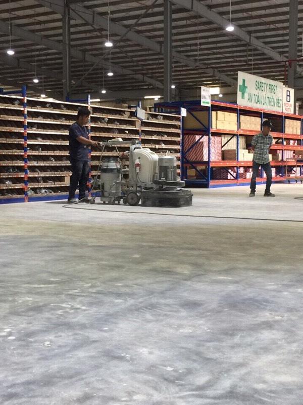 Dự án mài xử lý nền bê tông công trình Nhà máy AMOVINA – KCN Khai Quang