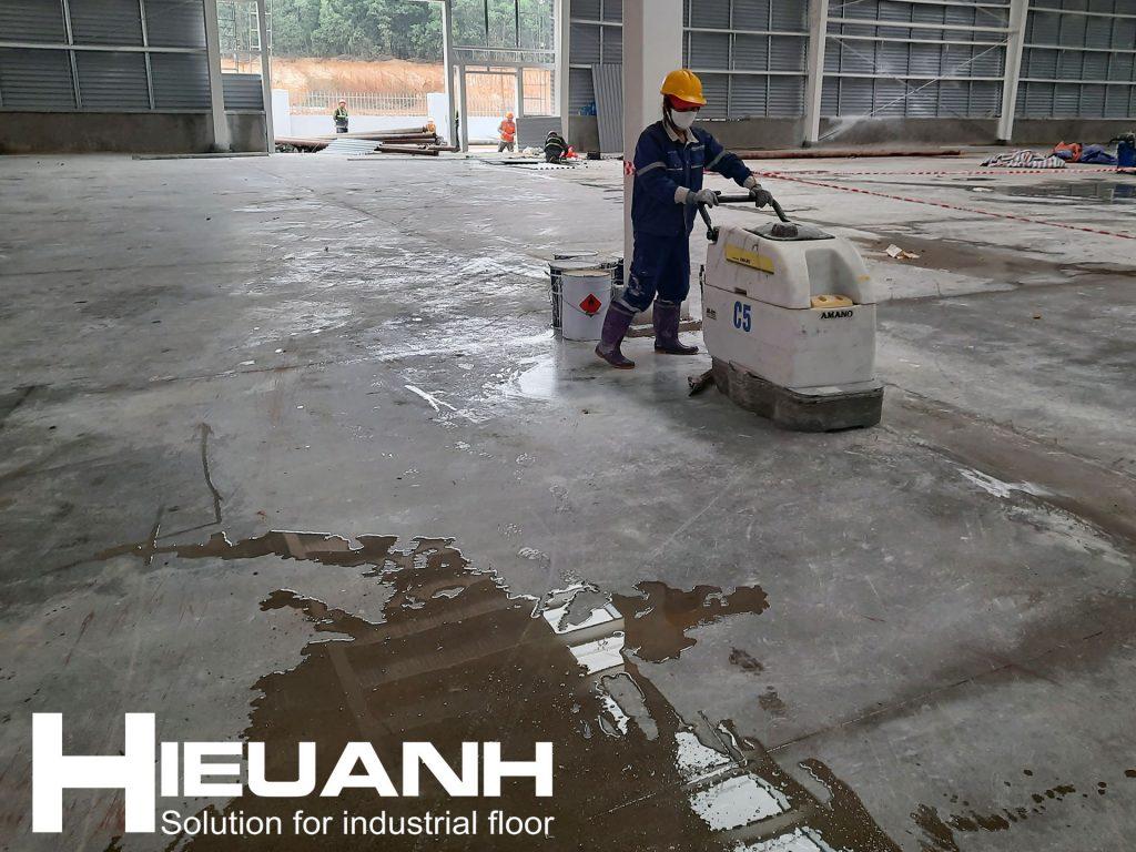 Dịch vụ xử lý bề mặt sàn bê tông chuyên nghiệp tại Hà Nội